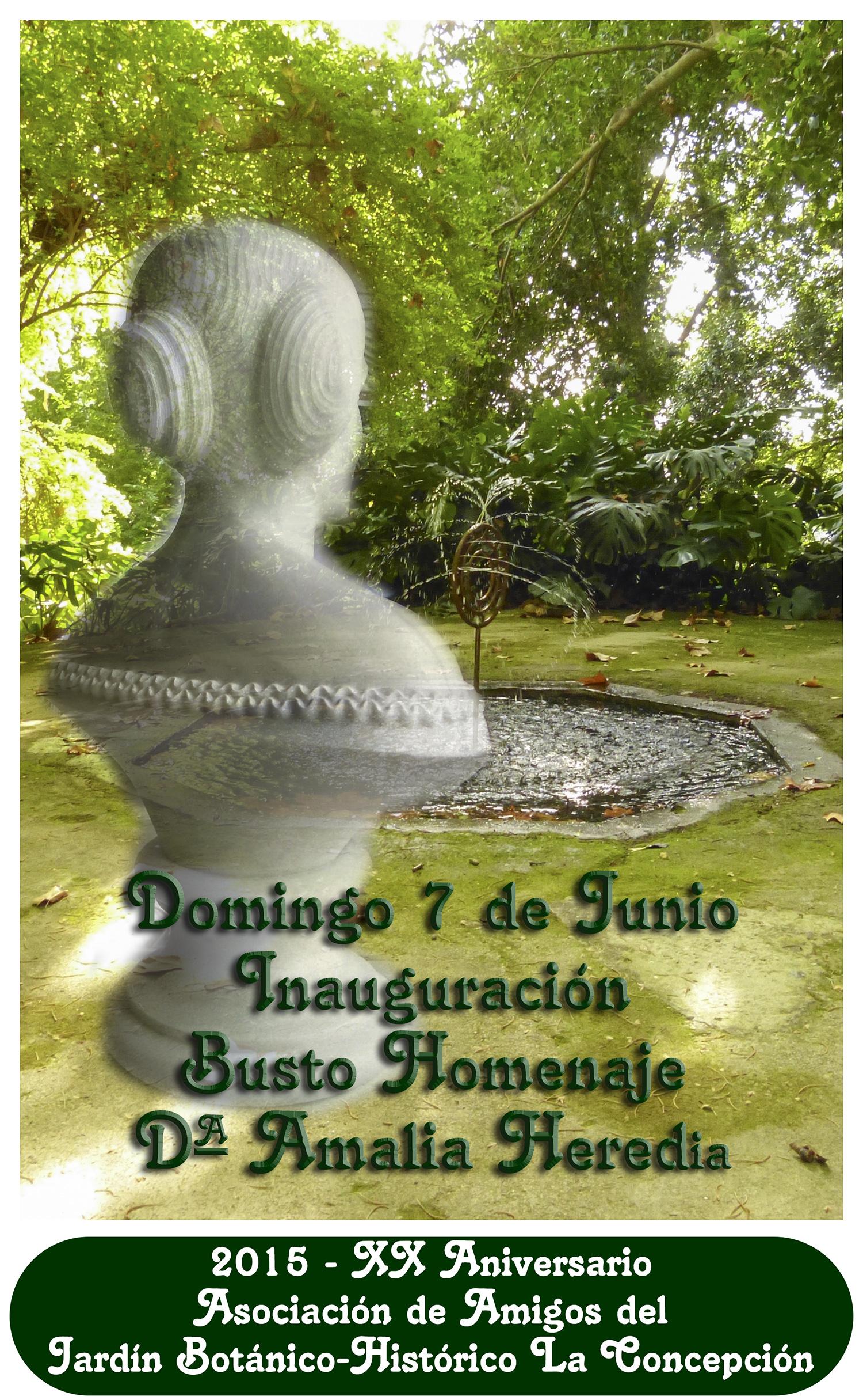 Próxima inauguración: Busto-Homenaje Dª Amalia Heredia